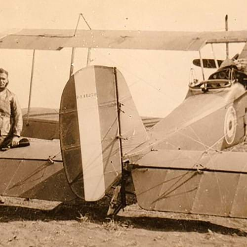 The extraordinary story of Britain's first Black Fighter Pilot: How Jamaican man, 20, paid for his own travel across to England to fight the Germans in WWI - and survived being shot in the spine in a vicious dogfight in his biplane