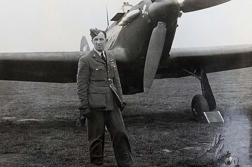 Incredible story of RAF hero pilot who could see in the dark and shot down a record 14 German planes at night without radar emerges as his poignant archive goes up for auction