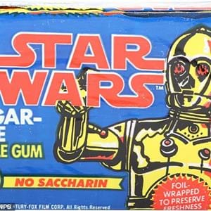In an auction house far, far away...Couple's lifetime collection of 250 Star Wars toys, themed bubblegum, trainers, and rollerskates sell for £84,000
