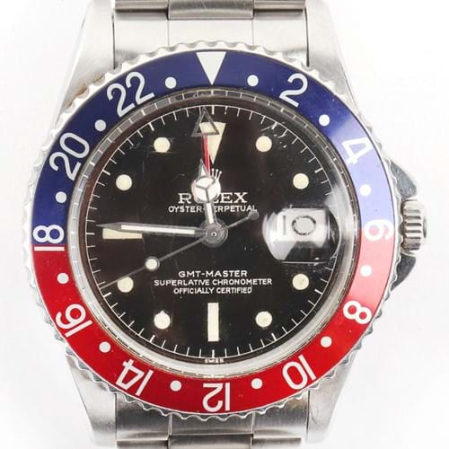 "Rare Rolex GMT Master 1675 ""Pepsi"" Up for Auction"